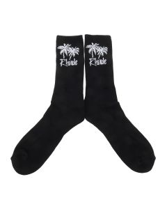 RHUDE RHUDE SOCKS PALM TREE / BLACK
