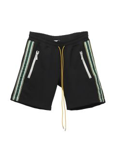 RHUDE TRAXEDO SHORTS / BLACK