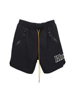 RHUDE SWIM SHORTS RHUDE LOGO / BLACK
