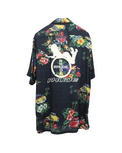RHUDE HAWAIIAN SHIRT GIRL / BLACK