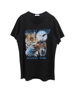 RHUDE ANIMALS TEE / BLACK