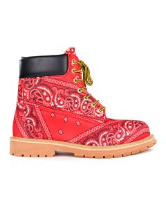 Rogic x NFS PAISLEY BOOTS / RED