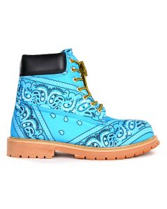 Rogic x NFS PAISLEY BOOTS / LIGHT BLUE