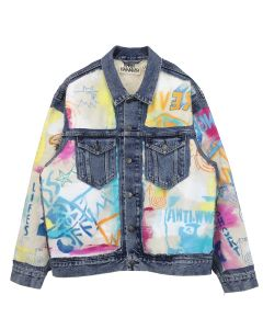 Ryan Hawaii ART CANVAS BLOWOUT JACKET / LIGHT BLUE