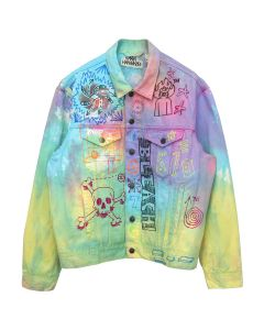 Ryan Hawaii MULTI ART DENIM JACKET / TIE DYE