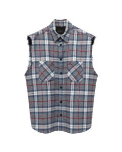 a56a201ca478 SAINTS OF SINS SLEEVELESS FLANNEL / GREY