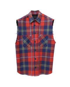 SAINTS OF SINS SLEEVELESS FLANNEL / RED