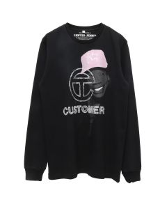 TELFAR CENTER JENNY LONG SLEEVE / BLACK