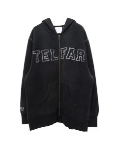 TELFAR REVERSE EMBROIDERED HOODIE/CAP / BLACK