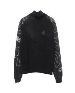 TELFAR MOCK NECK SWEATER / BLACK