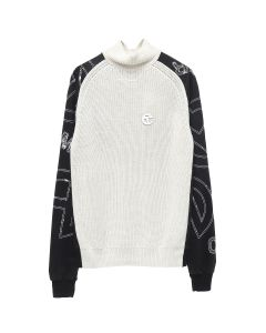 TELFAR MOCK NECK SWEATER / OFF WHITE