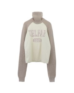 TELFAR KNIT TURTLENECK RAGLAN T-SHIRT / 007 : OATMEAL