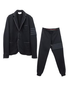 [お問い合わせ商品] THOM BROWNE. SUIT IN CLASSIC LOOP BACK W/ GROSGRAIN TIPPING AND 4 BAR / 001 : BLACK