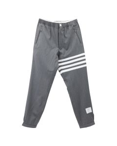 THOM BROWNE. SNAP FRONT ELASTIC TRACK TROUSER IN SUPER 120'S TWILL / 035