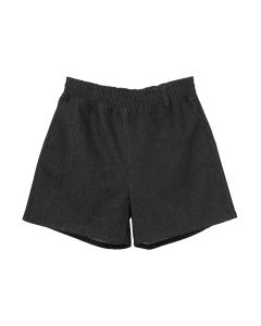 3.PARADIS KAKU DENIM SHORTS w/DOVE / BLACK