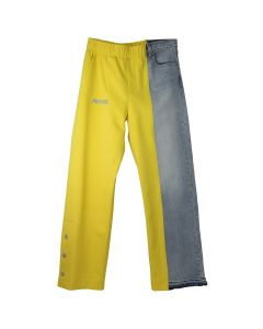 3.PARADIS SALY DENIM HYBRID TRACKPANTS / DENIM-YELLOW w/RED