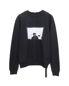 UPSTAIRS AT ERIC'S CLASSIC SWEATSHIRT WITH OPTIONS / BLACK