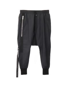 BEN TAVERNITI UNRAVEL PROJECT T COTTON DROP CROTCH PANTS / BLK NO COLOR