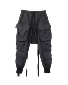 BEN TAVERNITI UNRAVEL PROJECT T COTTON CARGO PANTS / BLK NO COLOR