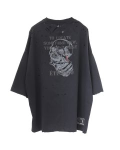 BEN TAVERNITI UNRAVEL PROJECT ETE SKULL VINTAGE J BOX TEE / 1010 : BLACK BLACK