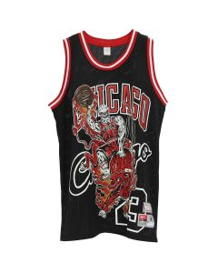 WARREN LOTAS WL ATHLETICS BULLS JERSEY / BLACK-RED