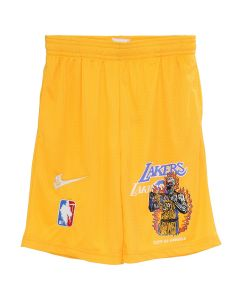 WARREN LOTAS WL ATHLETICS LAKERS SHORTS / YELLOW-PURPLE