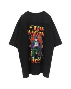 WARREN LOTAS LAS VEGAS DON PATCH OVERSIZED T-SHIRT / WASHED BLACK