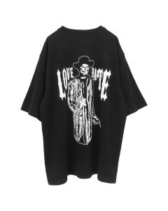 WARREN LOTAS LOVE AND HATE OVERSIZED PATCH T-SHIRT / WASHED BLACK