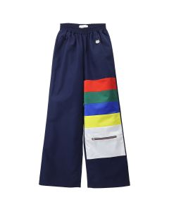 Xander Zhou COLOR BLOCKING TROUSERS WITH ZIPPER POCKETS / NAVY-RED-GREEN-BLUE