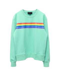 Xander Zhou RAINBOW GRAPHIC LONG SLEEVES PULLOVER / MINT