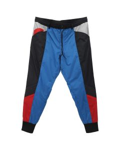 Y-3 M COL BLOCK SHELL TRACK PANTS / BLACK-ADI DASSLER BLUE